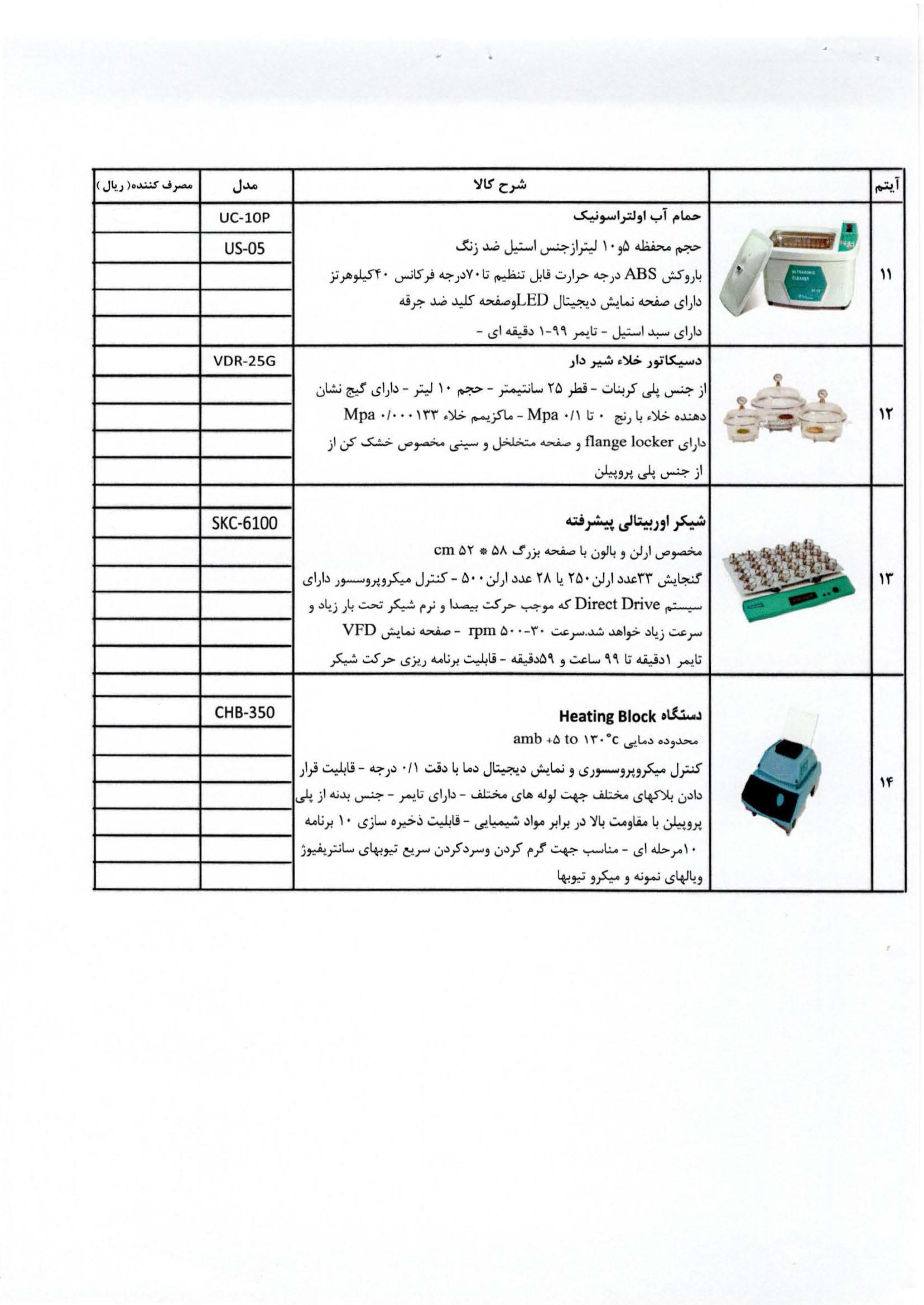 لیست تجهیزات موجود-3